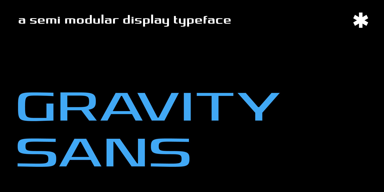 Gravity Sans Type Specimen_1