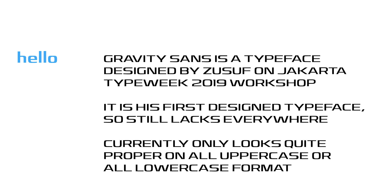 Gravity Sans Type Specimen_2